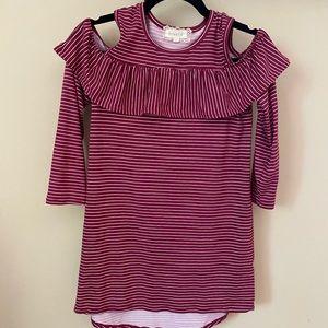 5 for $25! Girls btween cold shoulder dress,  12